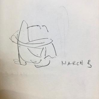 Marichyasana B - drawing by ©Yanna