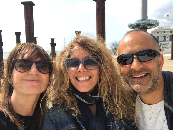 With Karen and Amir in Brighton