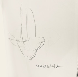 Navasana - drawing by ©Yanna
