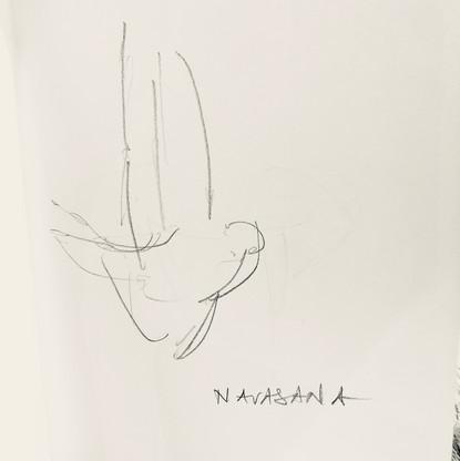 Navasana - drawing by ©Yanna