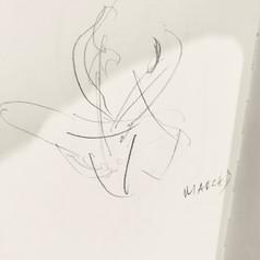 Marichyasana D - drawing by ©Yanna