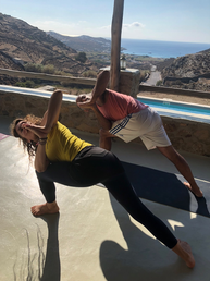 With Amir in Mykonos