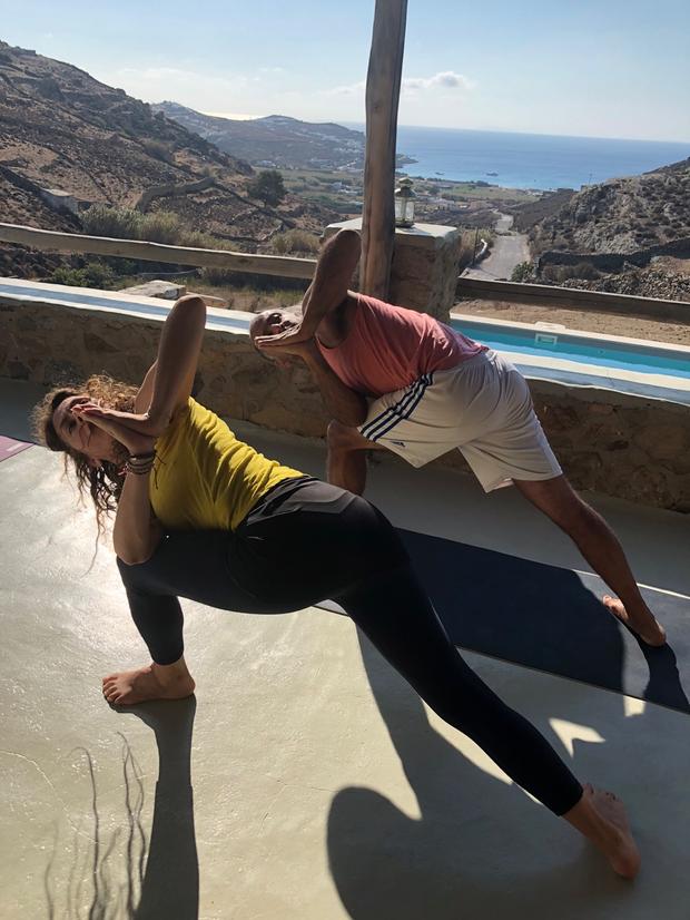 With Amir in Mykonos