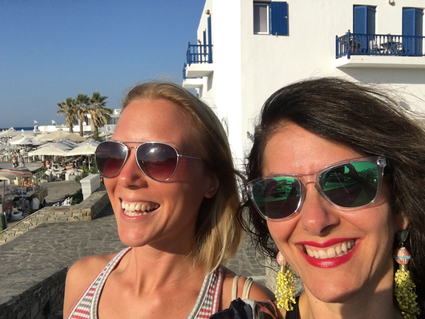 With Emmy in Paros