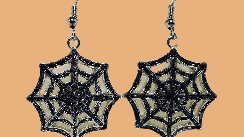 Silver/black Spider Webs - Large