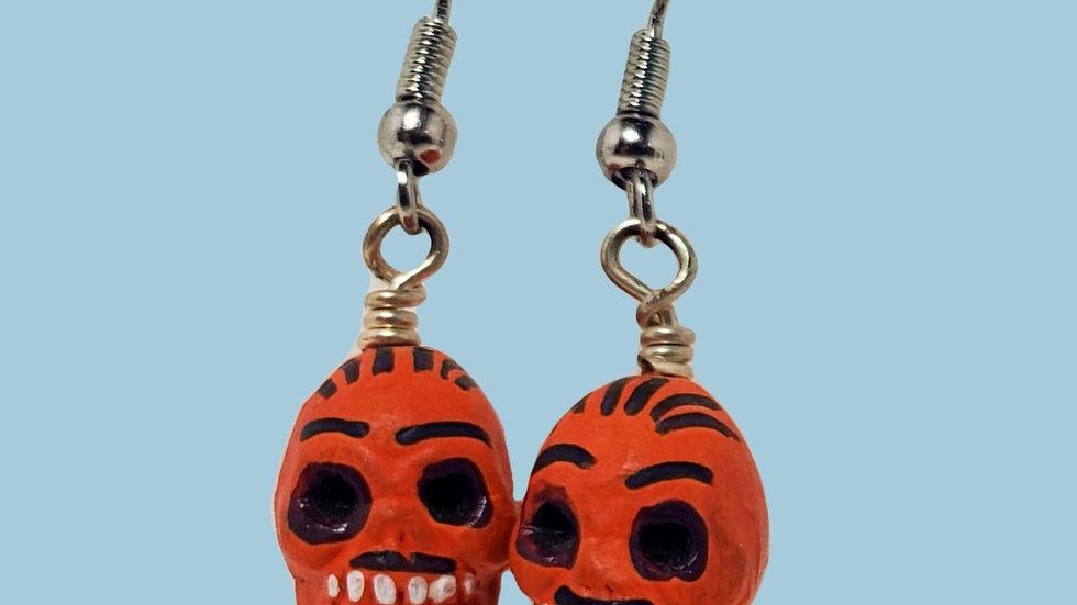 Teeny Tiny Skulls - Orange
