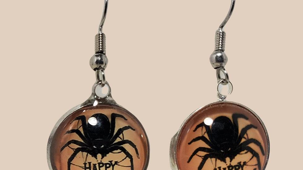 Happy Halloween Spider Cabochons