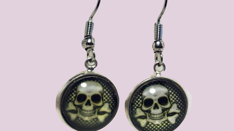 Skull & Crossbones Cabochon - Small