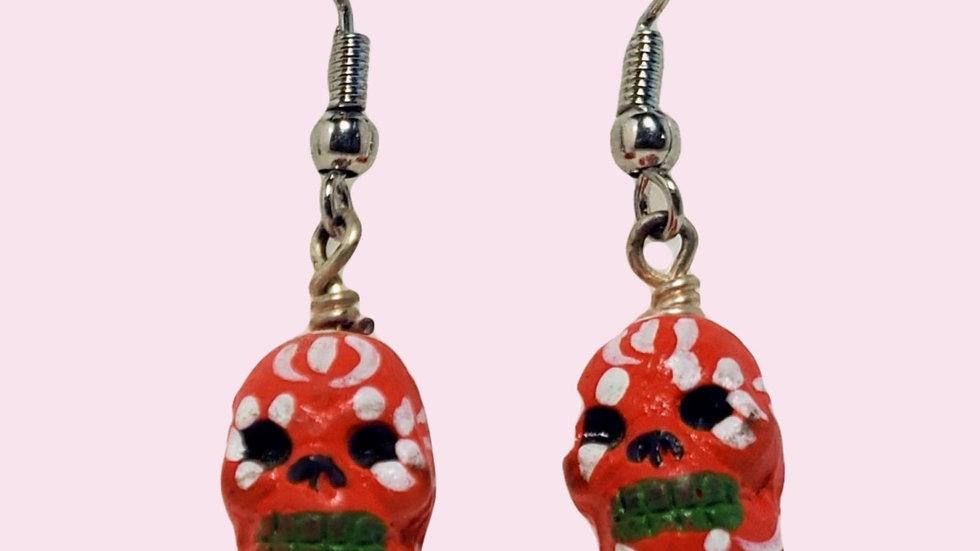 Teeny Tiny Skulls - Red