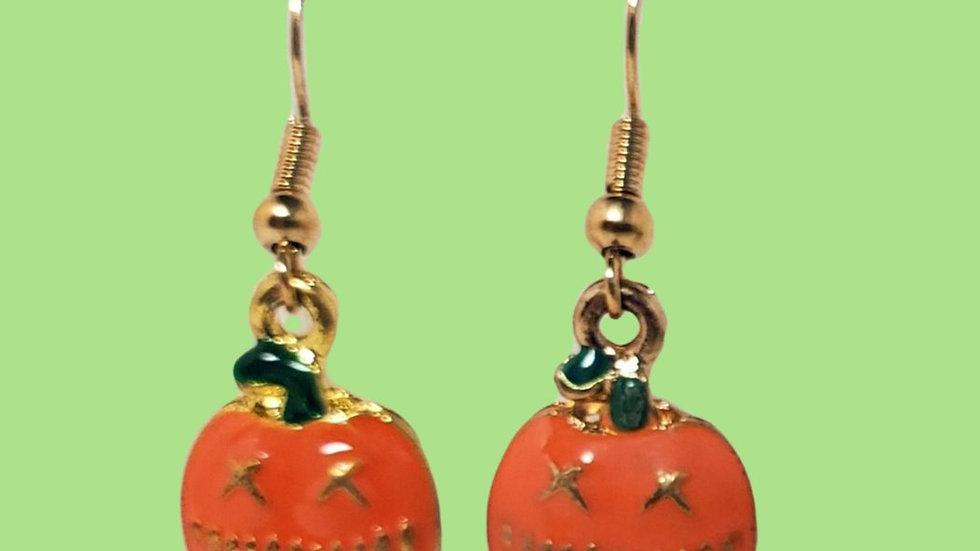 Gold Enamel Jack O Lanterns Small