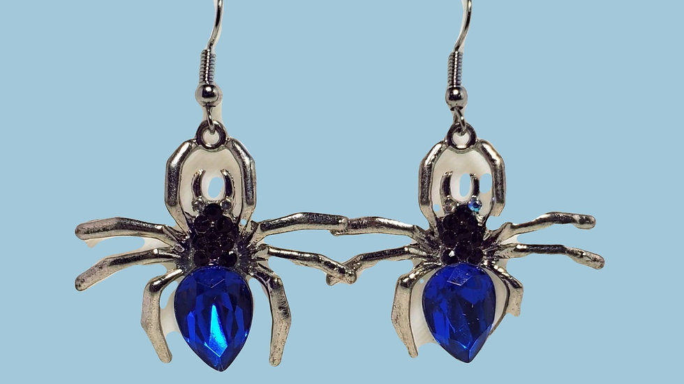 Blue Crystal Spiders - Very Large