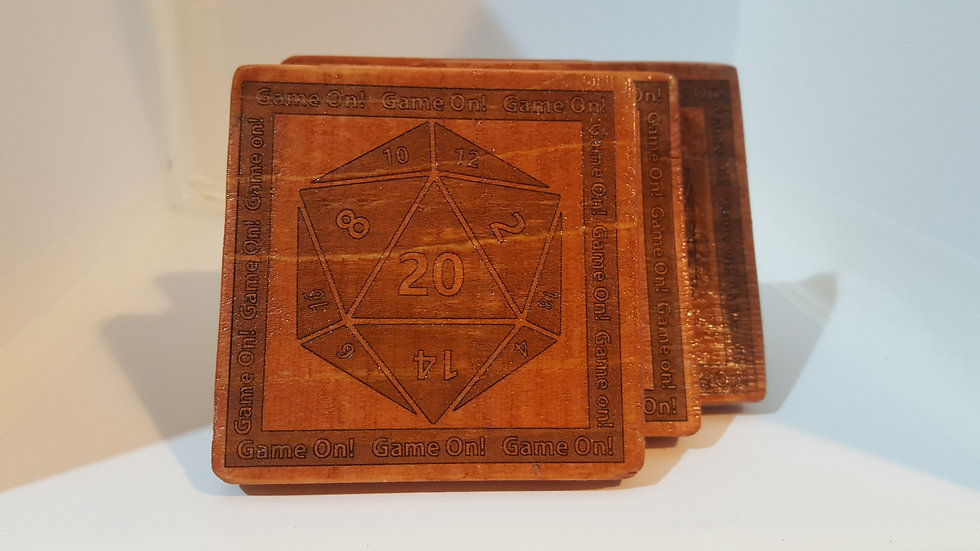 Coasters -d20 Game On!