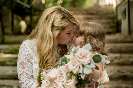 Mother and Daughter Bridal Picture