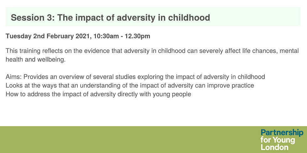 Session 3: The impact of adversity in childhood
