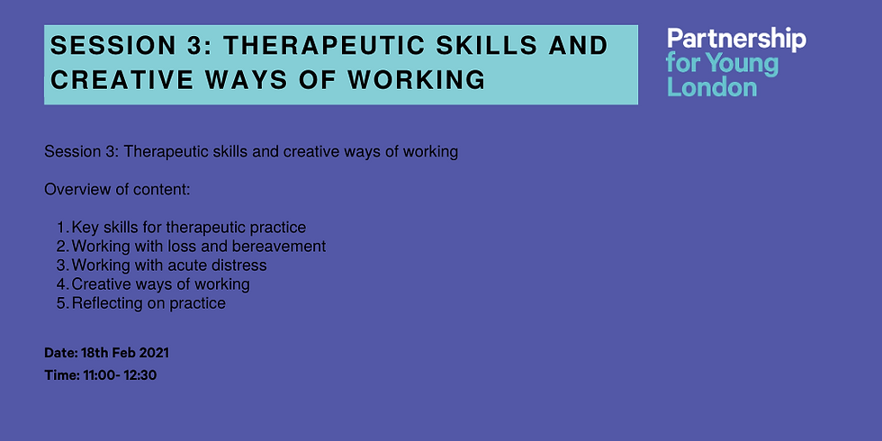 Therapeutic Skills And Creative Ways of Working - Session 3