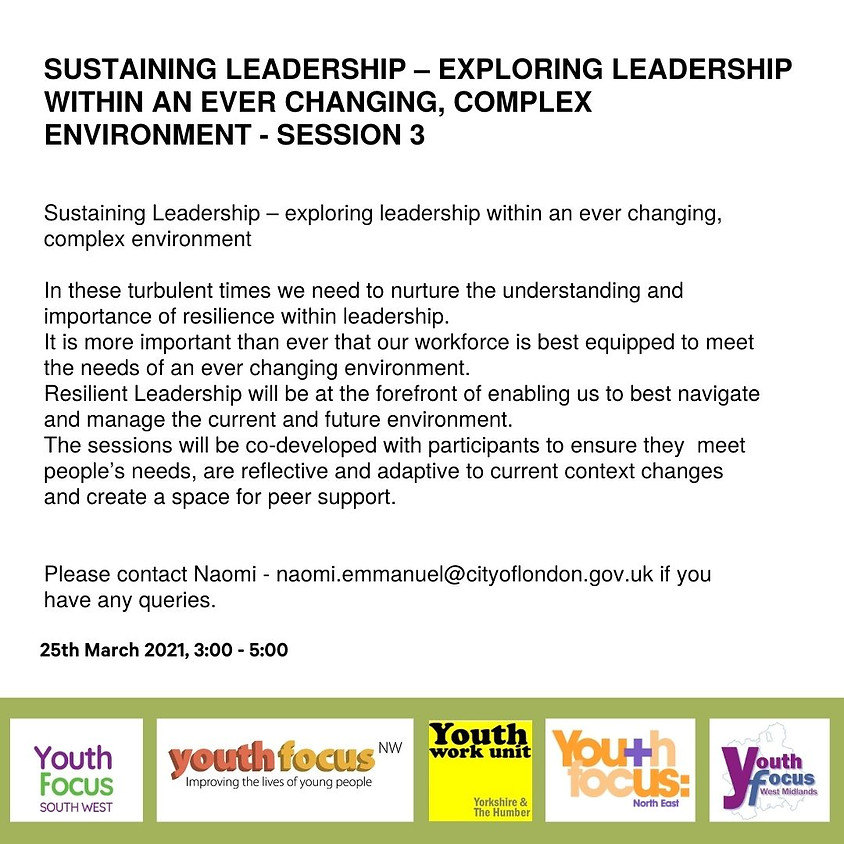 Fostering Resilience in Leadership (session 3)