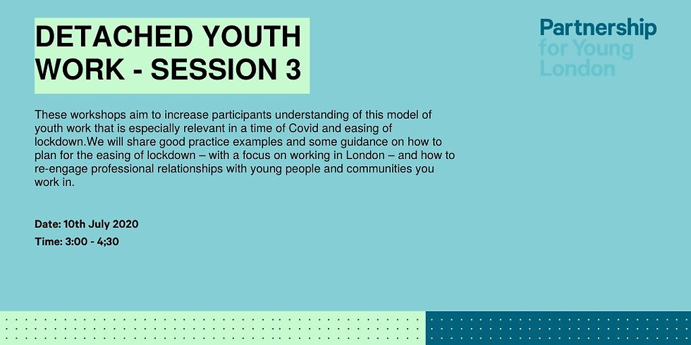 Detached Youth Work - session 3