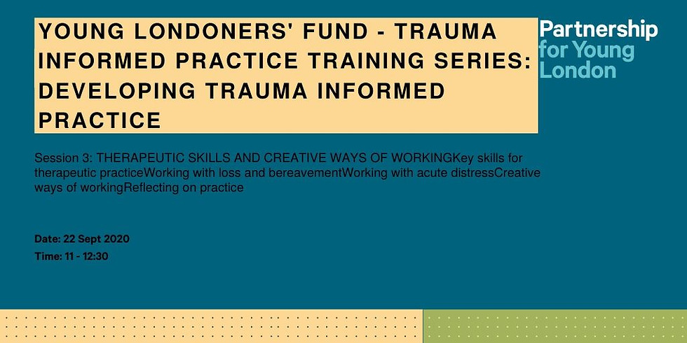 Young Londoners' Fund - Trauma informed practice training series: Developing Trauma Informed Practice
