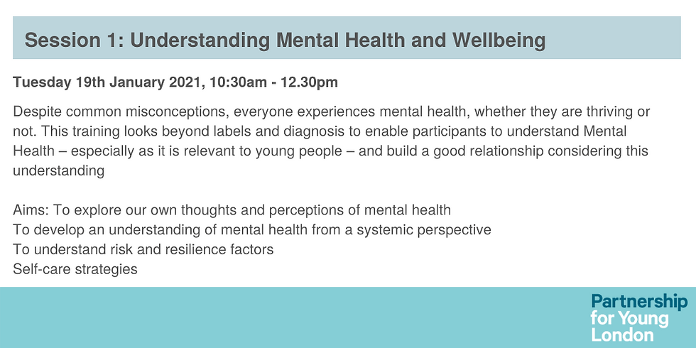 Session 1: Understanding Mental Health and Wellbeing