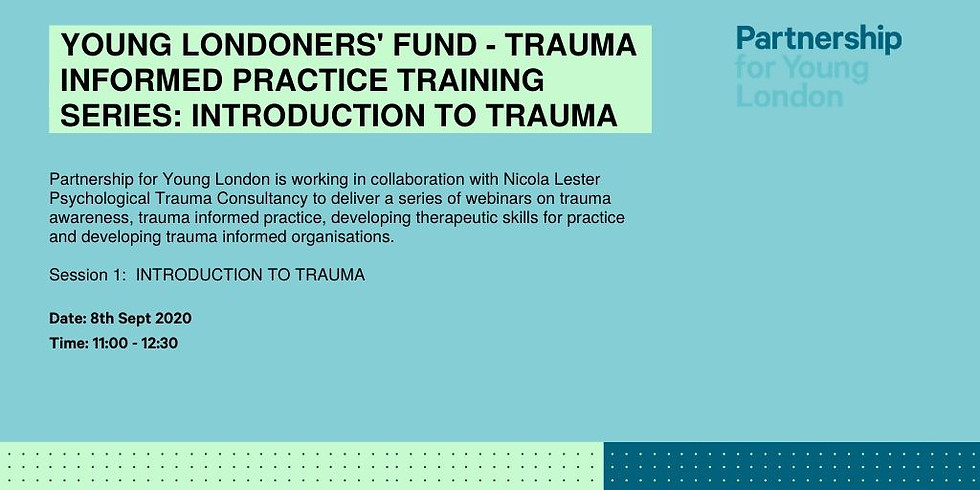 Young Londoners' Fund - Trauma informed practice training series: Introduction to Trauma