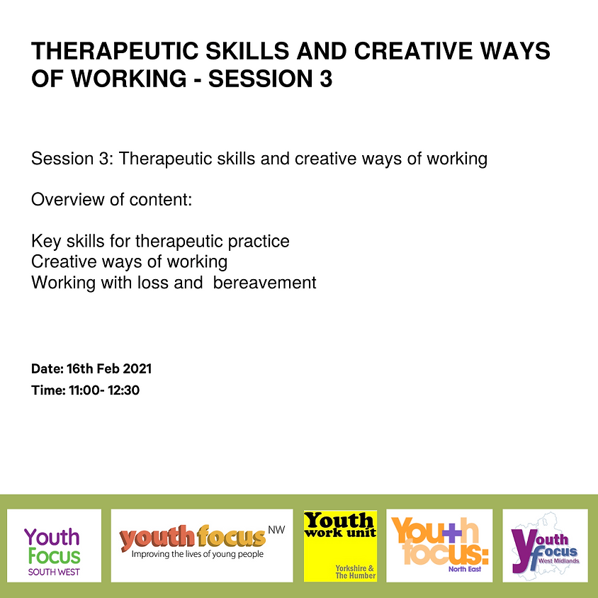 Session 3: Therapeutic Skills And Creative Ways of Working