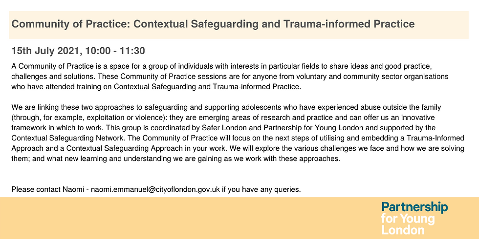 Community of Practice: Contextual Safeguarding and Trauma-informed Practice (4)