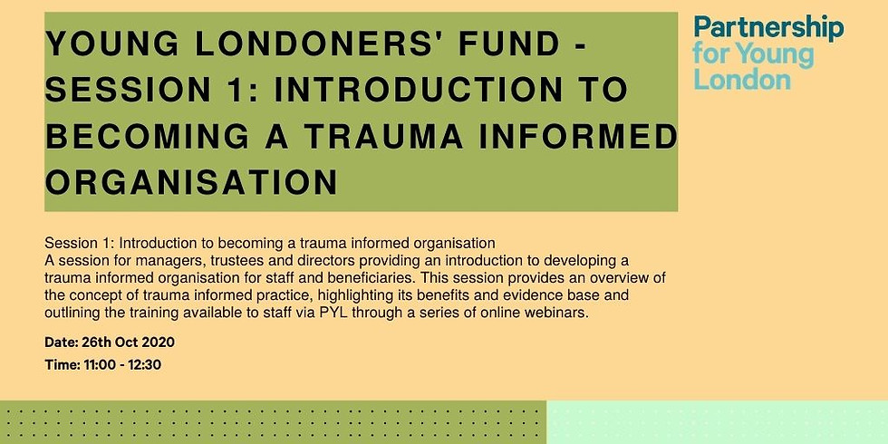 Young Londoners' Fund - Session 1: Introduction to becoming a trauma informed organisation