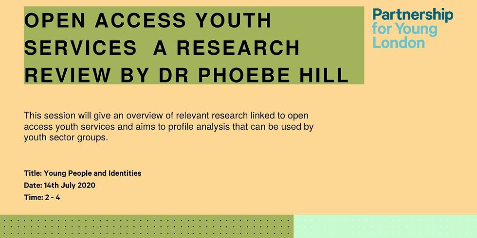Open Access Youth Services  a research review by Dr Phoebe Hill