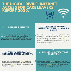 The Digital Divide: Internet Access for Care Leavers Infographic