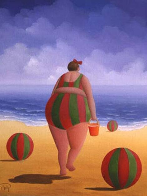 Carte postale format 10x15 (Ballon de plage)