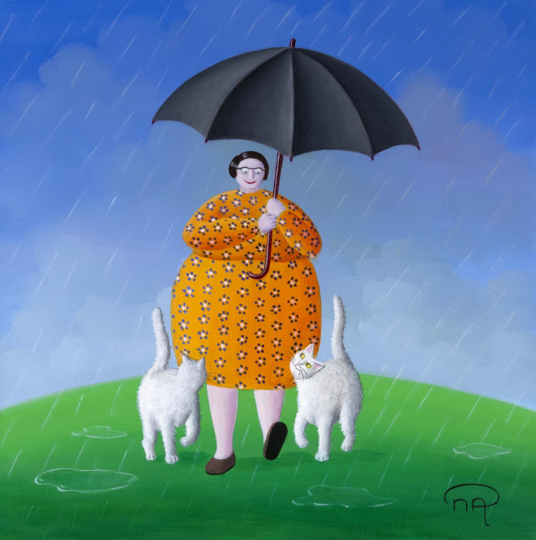 Sous un coin de parapluie