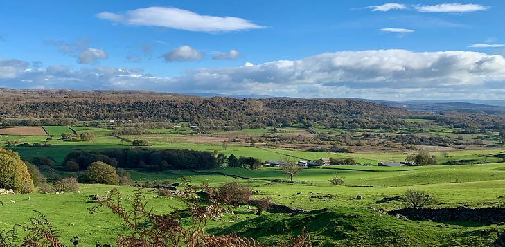 A view of the Winster valley between Bowland Bridge and Winster, taken from Cartmel Fell
