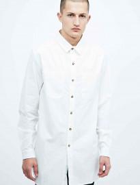 Son Of Wild Tokyo Longline Shirt In White