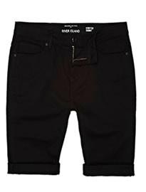 River Island Black Skinny Stretch Shorts