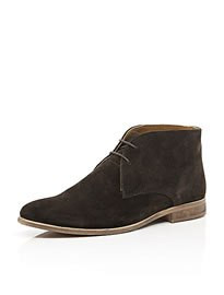 River Island Brown Suede Chukka Boots