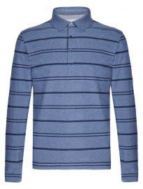 M&s Collection Pure Cotton Marl Striped Polo Shirt