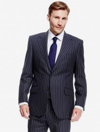 M&s Collection Luxury Pure New Wool Striped Suit