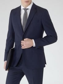 Reiss Silver Modern Fit Suit Navy