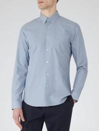 Reiss Ascot Button-down Oxford Shirt Sky Blue