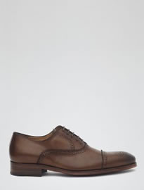 Reiss Cerroni Hand-finished Brogues Mid Brown
