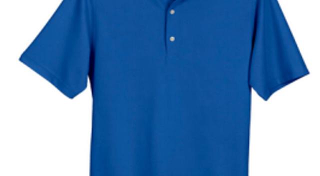 Greg Norman cobalt men's polo