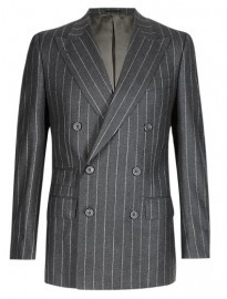 M&s Collection Best Of British Pure Wool Striped Suit