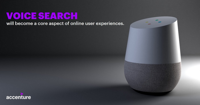 Digital marketing trends 2019 - Voice search to become a core aspect of online experience - by Accenture