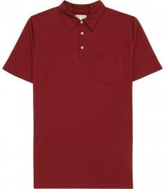 Reiss Wilson Patch Pocket Polo Shirt Cherry
