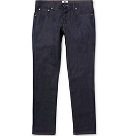 Nudie Jeans Tight Long John Slim-fit Organic Dry-denim Jeans