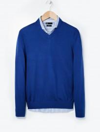 He By Mango Silk Wool-blend Sweater