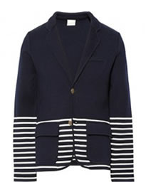 Band Of Outsiders Schoolboy Knitted Wool And Cotton-blend Blazer