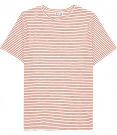 Reiss Sandy Classic Stripe T-shirt Orange