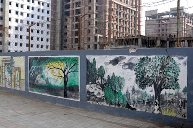 Ahmedabad street art graffiti  murals