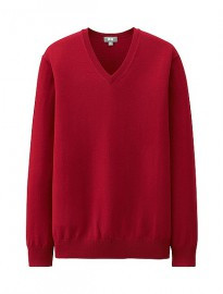 Uniqlo Men Extra Fine Merino V-neck Sweater